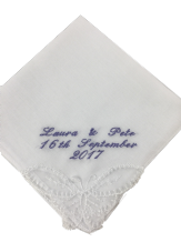 PERSONALISED HANDKERCHIEF WITH Lace Corner